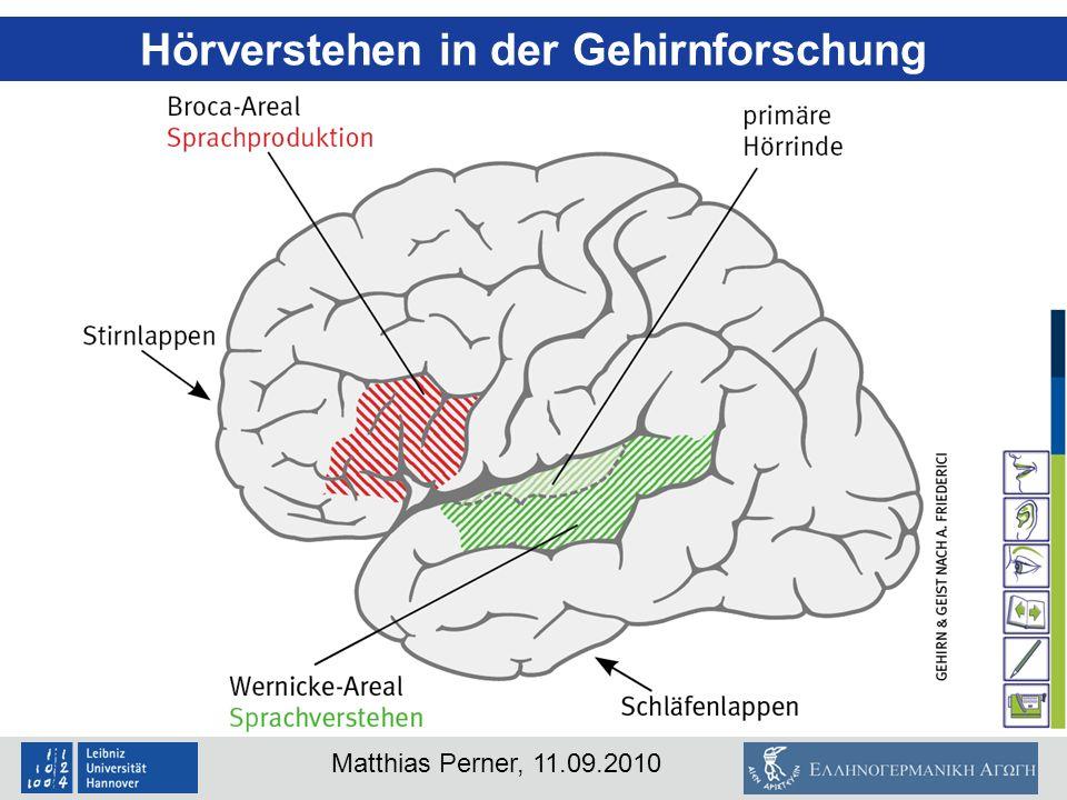 Matthias Perner, 11.09.2010 Hörverstehen in der Gehirnforschung