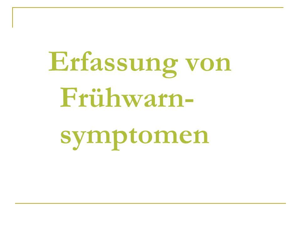 Erfassung von Frühwarn- symptomen