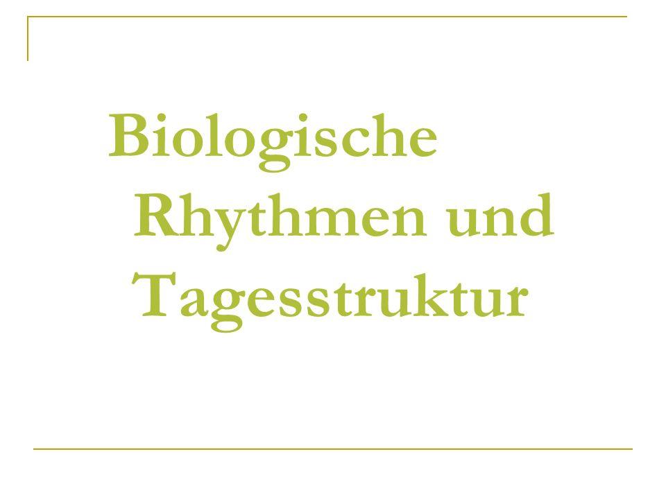 Biologische Rhythmen und Tagesstruktur