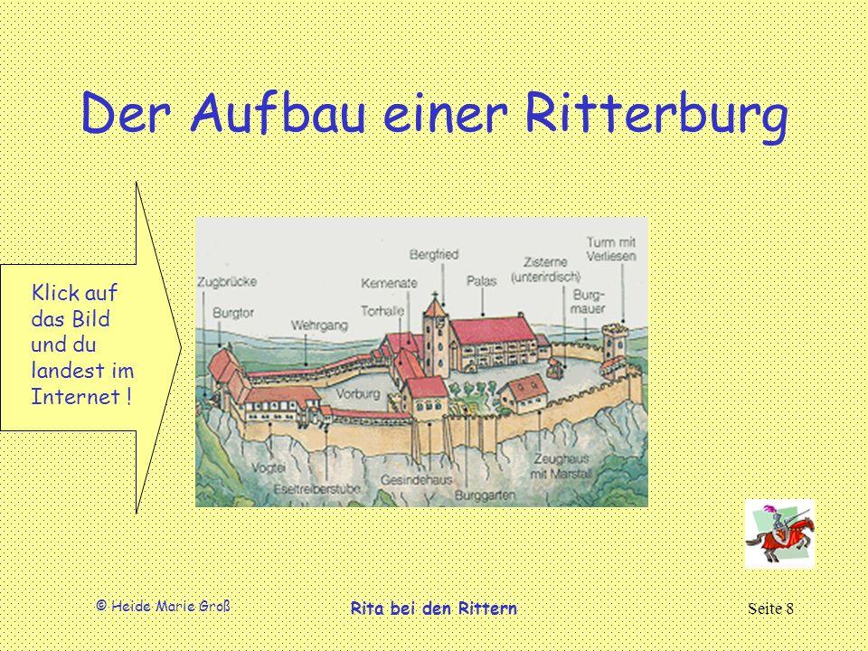 © Heide Marie Groß Rita bei den RitternSeite 8 Der Aufbau einer Ritterburg Klick auf das Bild und du landest im Internet !