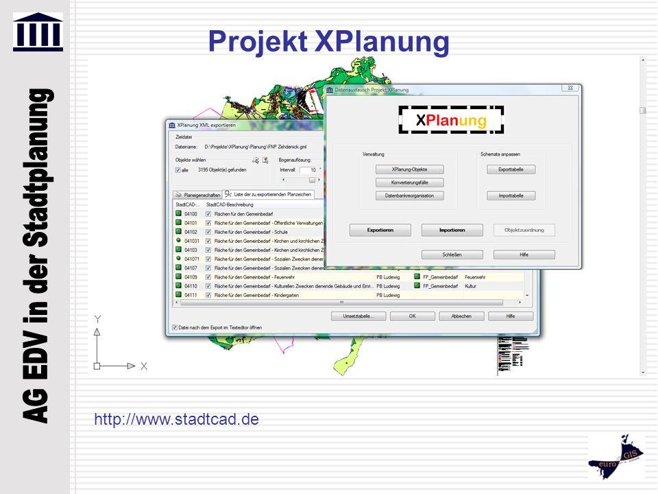 http://www.stadtcad.de Projekt XPlanung