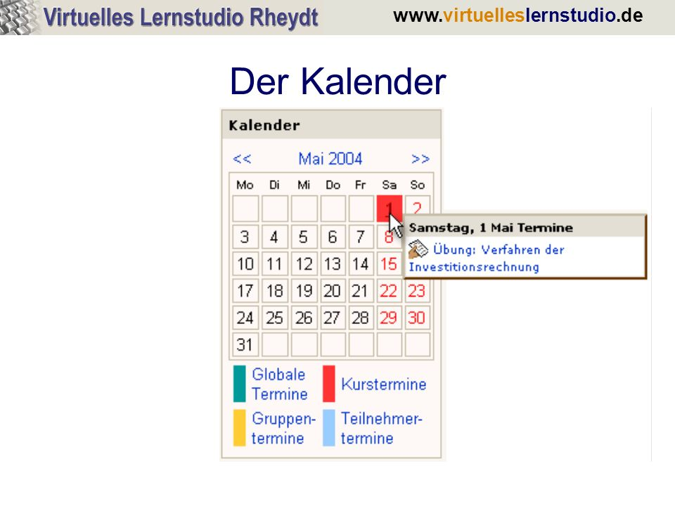 www.virtuelleslernstudio.de Einfacher Zugriff auf Materialien