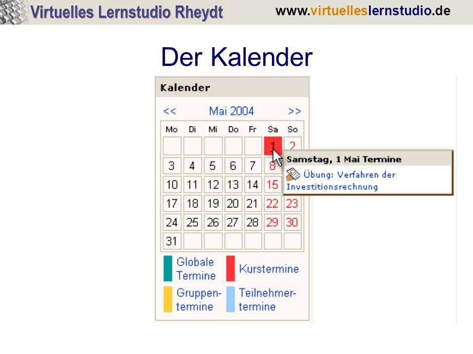www.virtuelleslernstudio.de Der Kalender
