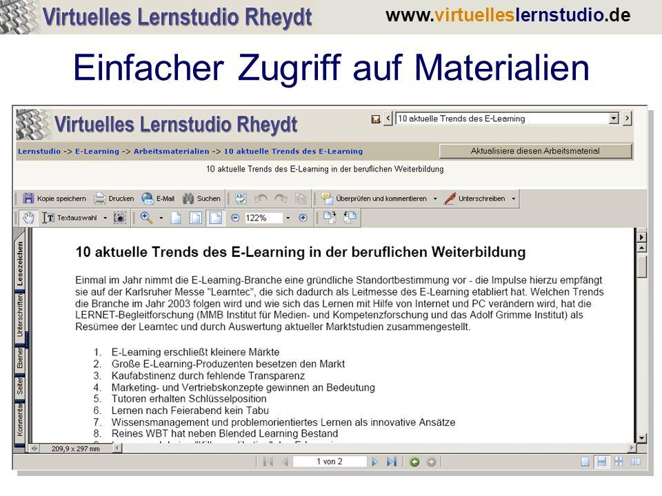 www.virtuelleslernstudio.de Wie sehen Schüler das Lernstudio.