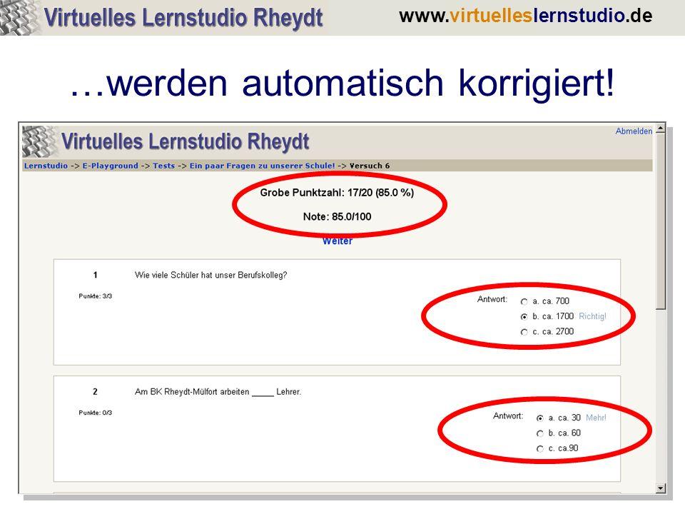 www.virtuelleslernstudio.de …werden automatisch korrigiert!