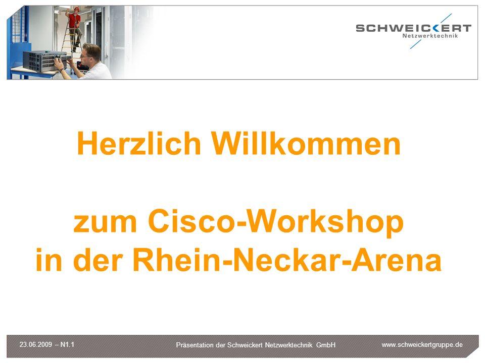 www.schweickertgruppe.de Präsentation der Schweickert Netzwerktechnik GmbH 23.06.2009 – N1.1 Herzlich Willkommen zum Cisco-Workshop in der Rhein-Necka