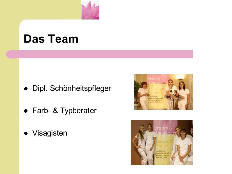 Das Team Dipl. Schönheitspfleger Farb- & Typberater Visagisten