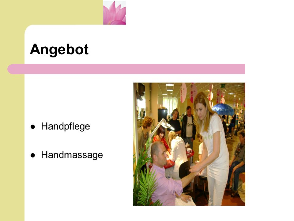 Angebot Handpflege Handmassage