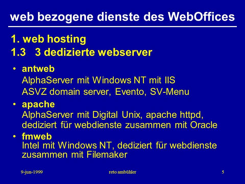 9-jun-1999reto ambühler16 web bezogene dienste des WebOffices fragen ?