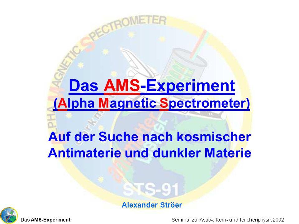 Das AMS-Experiment Seminar zur Astro-, Kern- und Teilchenphysik 2002 Das AMS-Experiment (Alpha Magnetic Spectrometer) Auf der Suche nach kosmischer An