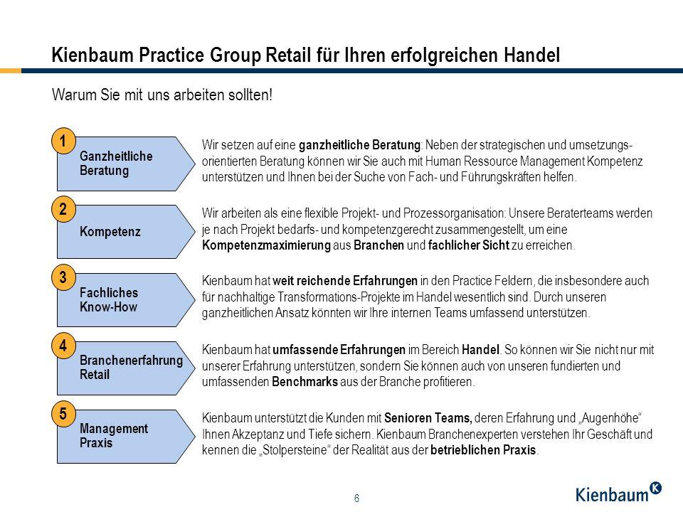 7 Kienbaum Practice Group Retail Geschäftsführer und Partner Managing Director Kienbaum AG Dr.