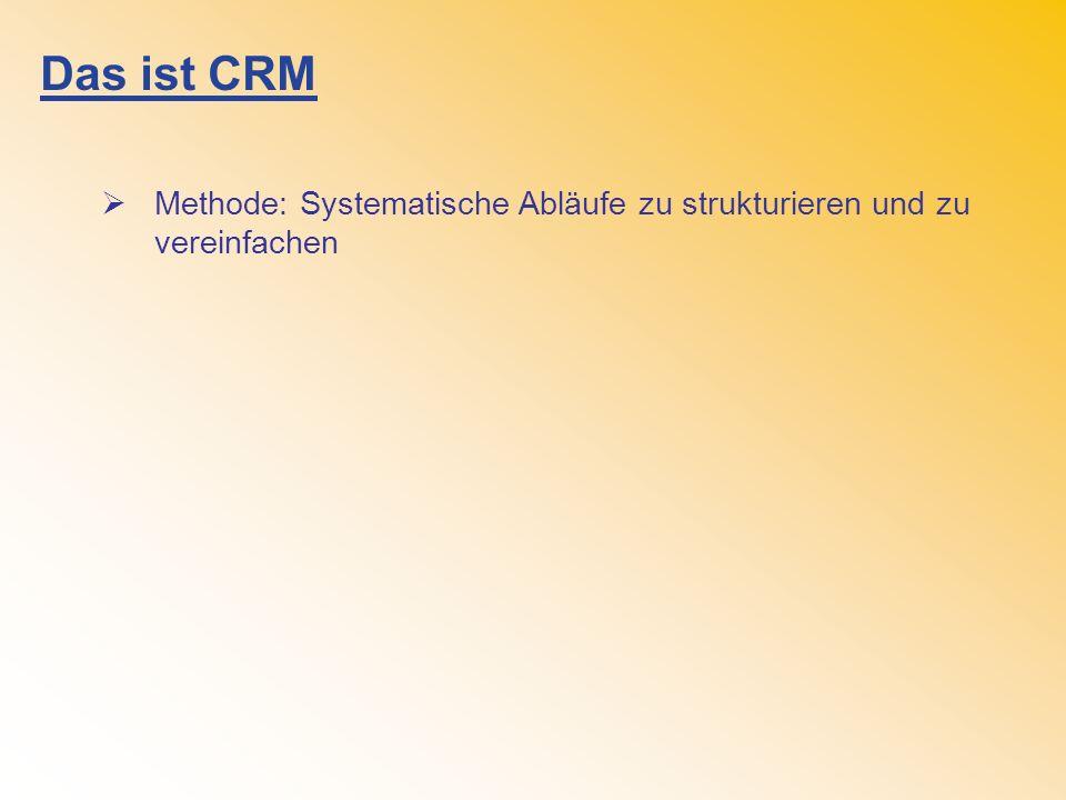 Das ist CRM Methode: Systematische Abläufe zu strukturieren und zu vereinfachen