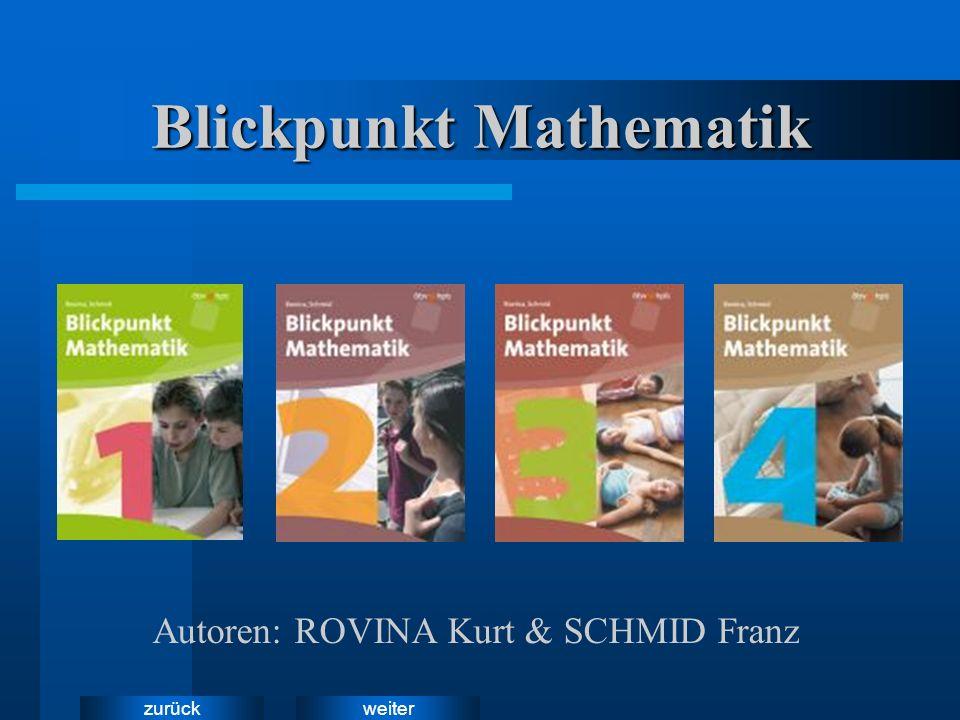 weiterzurück Daniela und Alex Daniela und Alex führen durch die Bücher der Reihe Blickpunkt Mathematik