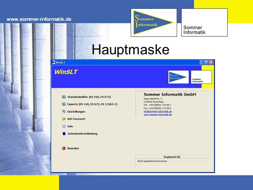 Hauptmaske