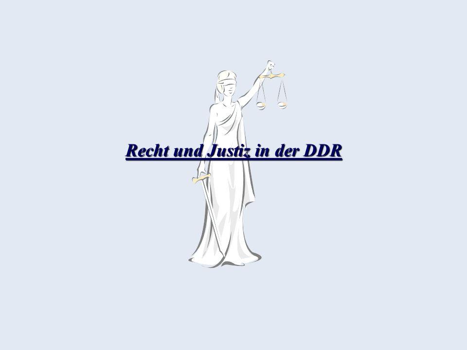Die Sozialistische Einheitspartei Deutschlands (SED) Ungeschriebenes Gesetz: Jurastudenten hatten Mitglieder der SED zu sein Begriff der Unabhängigen Justiz wurde von der SED öffentlich verlacht Der durch keine Gewaltenteilung behinderte reale Souverän des politischen Systems der DDR, war das Politbüro der SED und der Erste Sekretär, bzw.