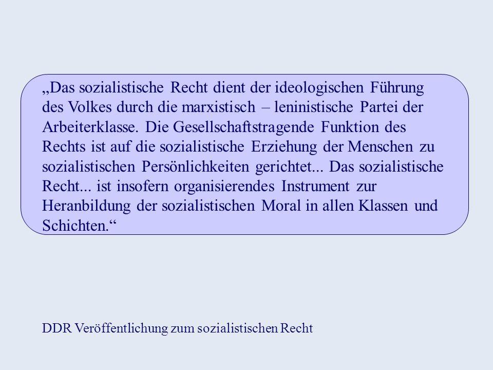 Politische Strafjustiz Fluchtversuche oder Fluchthilfe 50% der politschen Urteile Restliche 50 % staatsfeindliche Hetze Spionage, konterrevolutionäre Verbrechen und verfassungsfeindlicher Zusammenschluss DDR-Richter Udo Gemballa verurteilt zu 2 Jahren wegen staatsfeindlicher Hetze und Rechtsbeugung Exempel