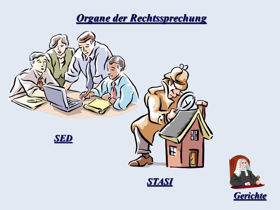 Organe der Rechtssprechung SED STASI Gerichte