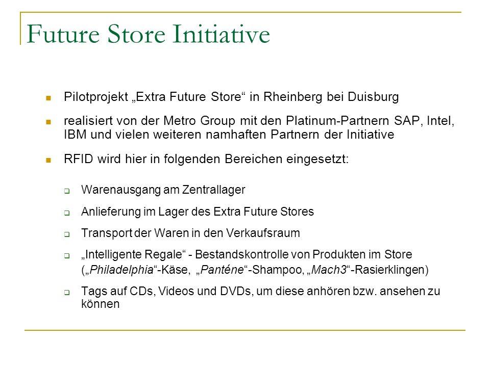 Future Store Initiative Pilotprojekt Extra Future Store in Rheinberg bei Duisburg realisiert von der Metro Group mit den Platinum-Partnern SAP, Intel,