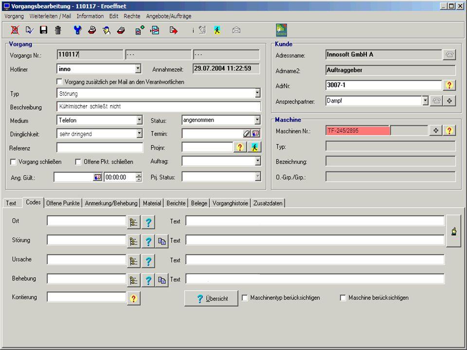 Integriertes Service- und Wissensmanagement bei der Robert Bürkle GmbH 18 sehr dringend Störung Kühlmischer schließt nicht TF-245/2895