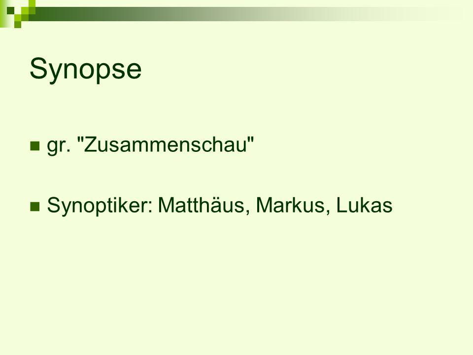 Synopse gr.