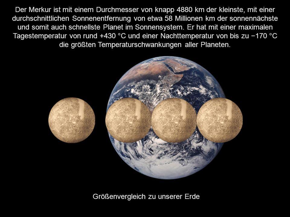 Besuchen wir nun den Planeten, welcher der Sonne am nächsten ist. Der Merkur