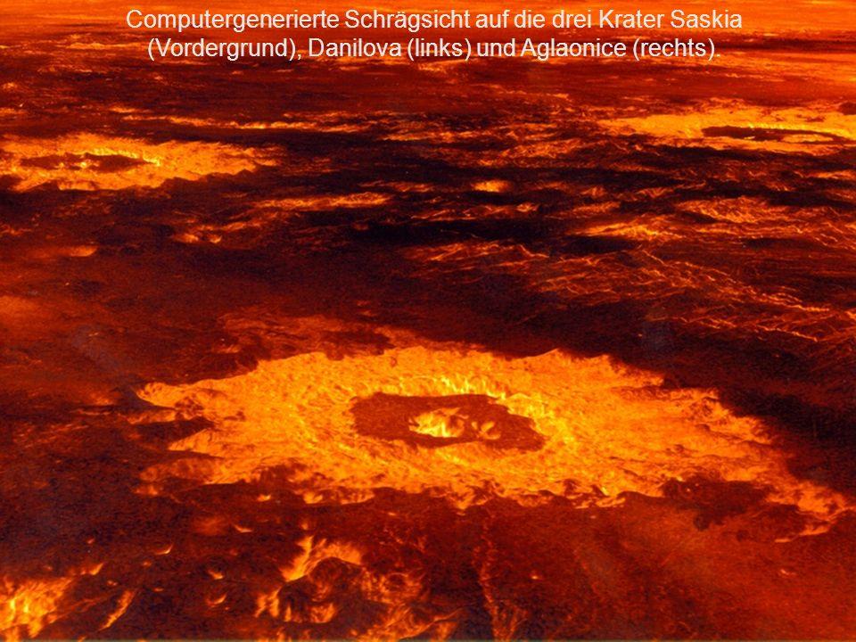 Aus Sicht der Sonde Clementine: Die Vollvenus über der Korona der Sonne, die der nur im Erdschein sichtbare Mond verdeckt.
