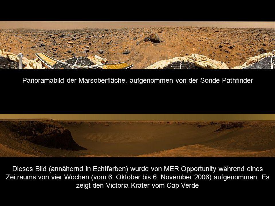 Olympus Mons, der mit 27 km höchste Berg im Sonnensystem Der Mars ist mit einem Durchmesser von knapp 6800 Kilometern etwa halb so groß wie die Erde und nach Merkur der zweitkleinste Planet des Sonnensystems.