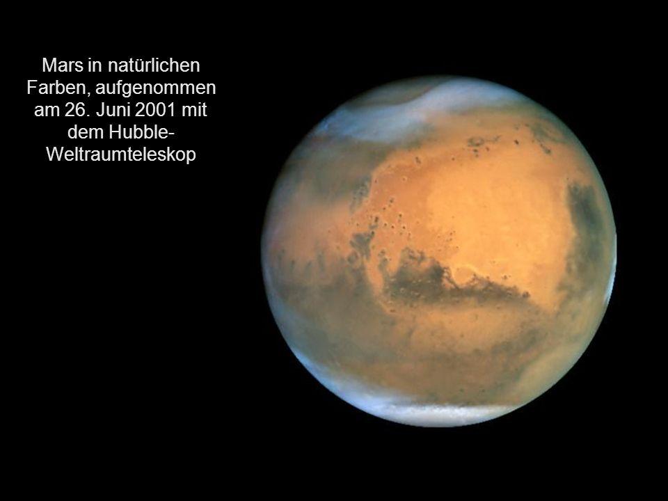 Wegen seiner orange- bis blutroten Farbe wurde er nach dem römischen Kriegsgott Mars benannt und wird oft auch als der Rote Planet bezeichnet.