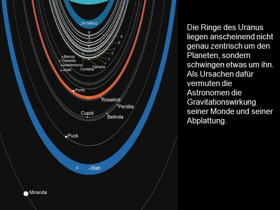 Uranus ist von der Sonne aus mit einer durchschnittlichen Sonnenentfernung von 2,9 Milliarden km der siebte Planet im Sonnensystem.
