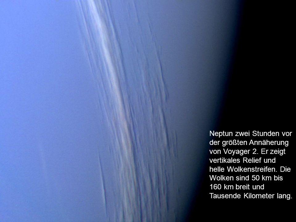 Neptuns Ringsystem (von Voyager 2) Von Neptun sind derzeit 13 Monde bekannt.