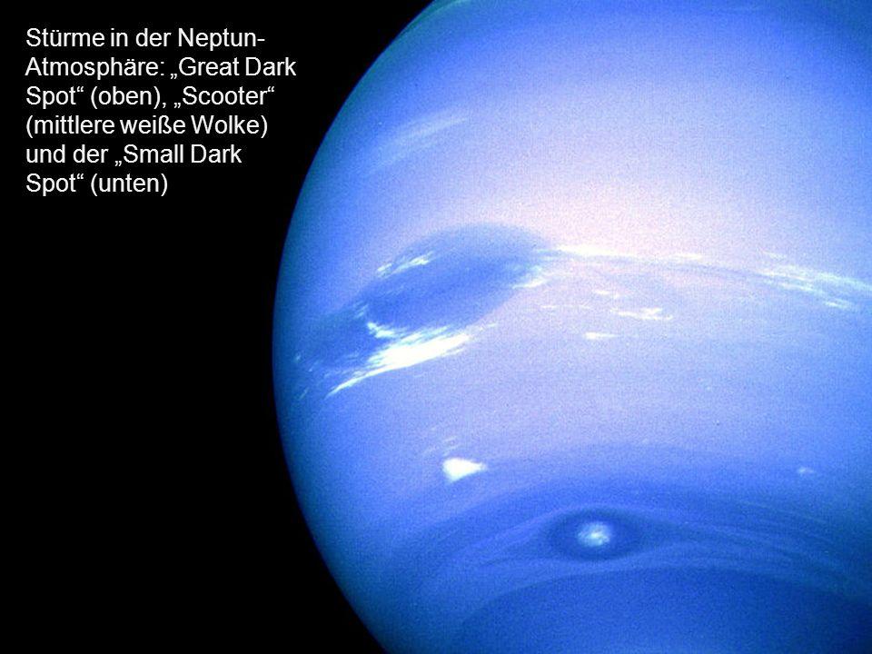 Neptun zwei Stunden vor der größten Annäherung von Voyager 2.