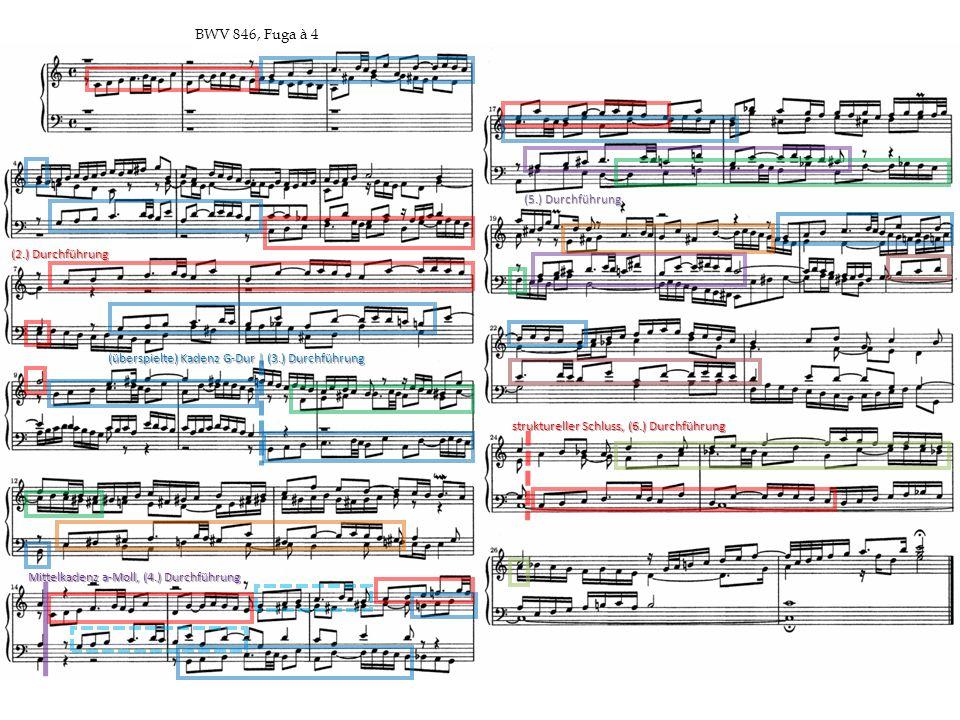 (überspielte) Kadenz G-Dur | (3.) Durchführung Mittelkadenz a-Moll, (4.) Durchführung (2.) Durchführung (5.) Durchführung struktureller Schluss, (6.)