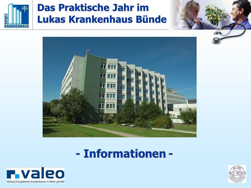 Lukas-Krankenhaus Bünde Akademisches Lehrkrankenhaus der Medizinischen Hochschule Hannover Hindenburgstr.