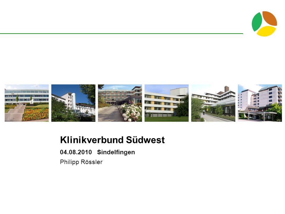 Klinikverbund Südwest 04.08.2010 Sindelfingen Philipp Rössler
