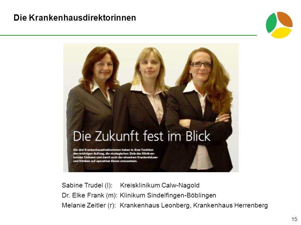 Die Krankenhausdirektorinnen Sabine Trudel (l): Kreisklinikum Calw-Nagold Dr.