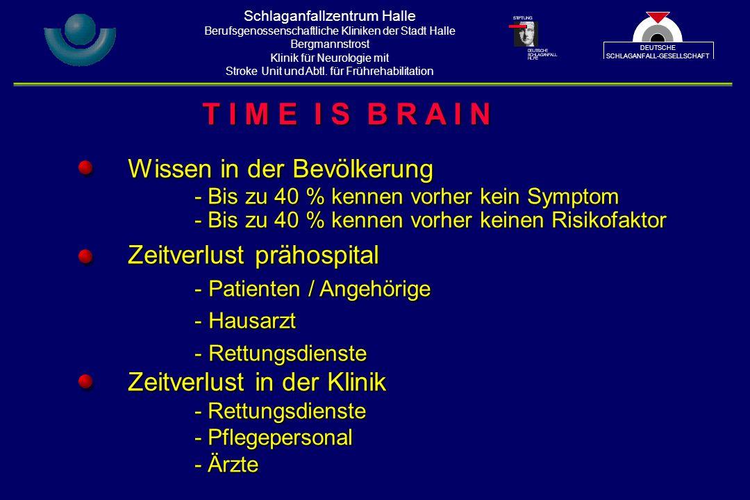 Schlaganfallzentrum Halle Berufsgenossenschaftliche Kliniken der Stadt Halle Bergmannstrost Klinik für Neurologie mit Stroke Unit und Abtl.