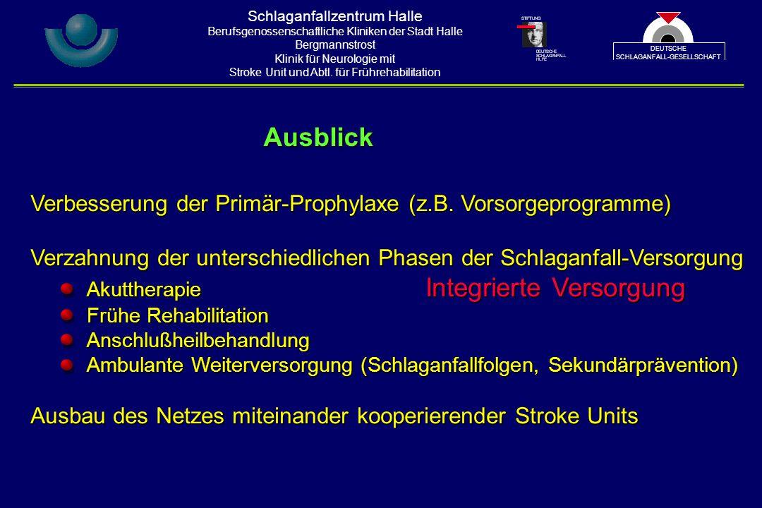 Verbesserung der Primär-Prophylaxe (z.B.