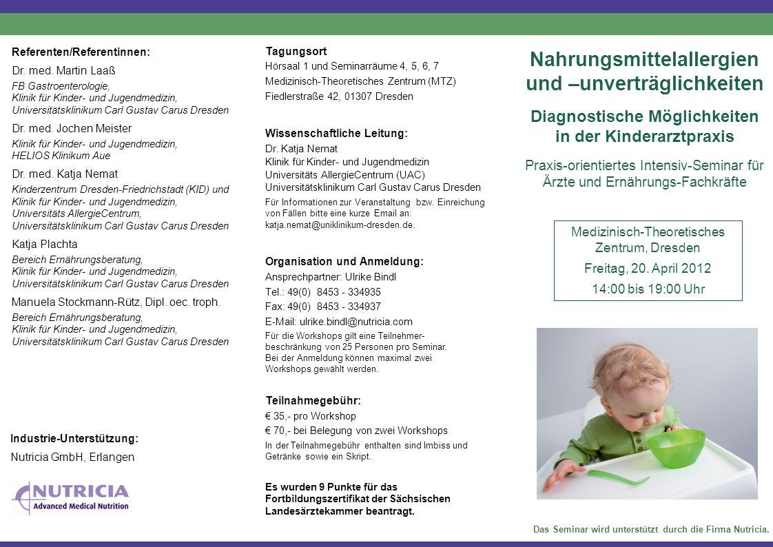 Freitag, 14.00 Uhr bis 19.00 Uhr 14.00–14.10 Begrüßung Klassifikation von Nahrungsmittelunverträglichkeiten (K.