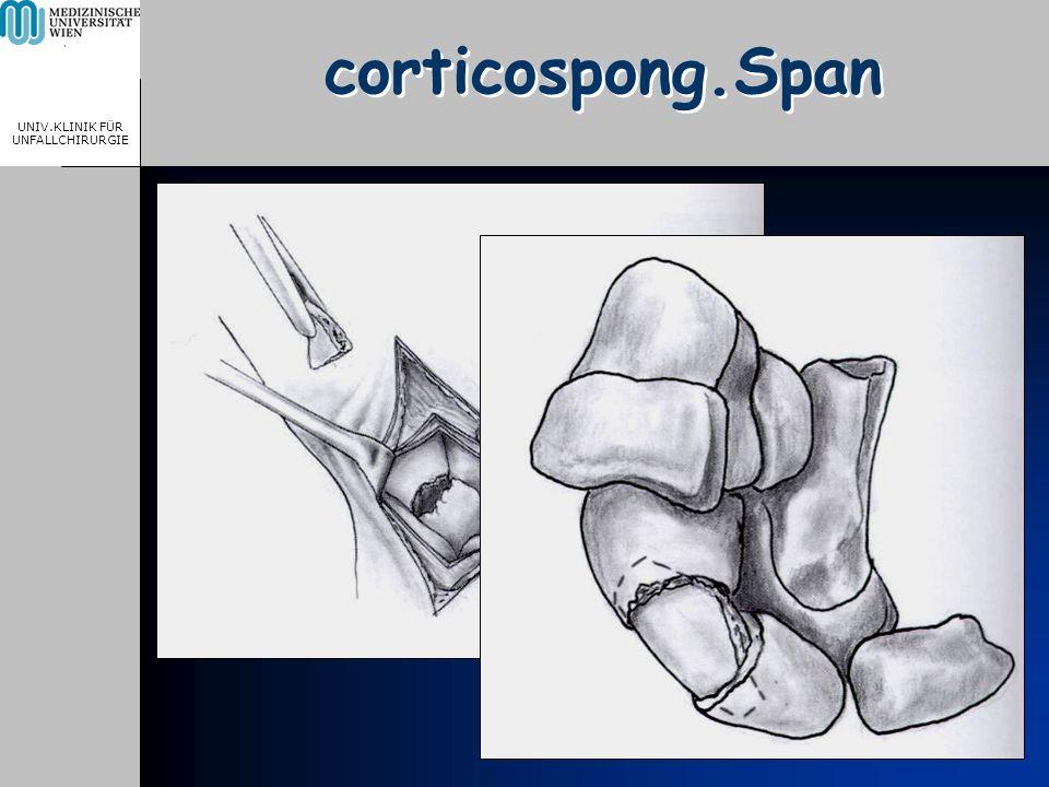 MEDICAL UNIVERSITY, VIENNA, AUSTRIA UNIV.KLINIK FÜR UNFALLCHIRURGIE corticospong.Span