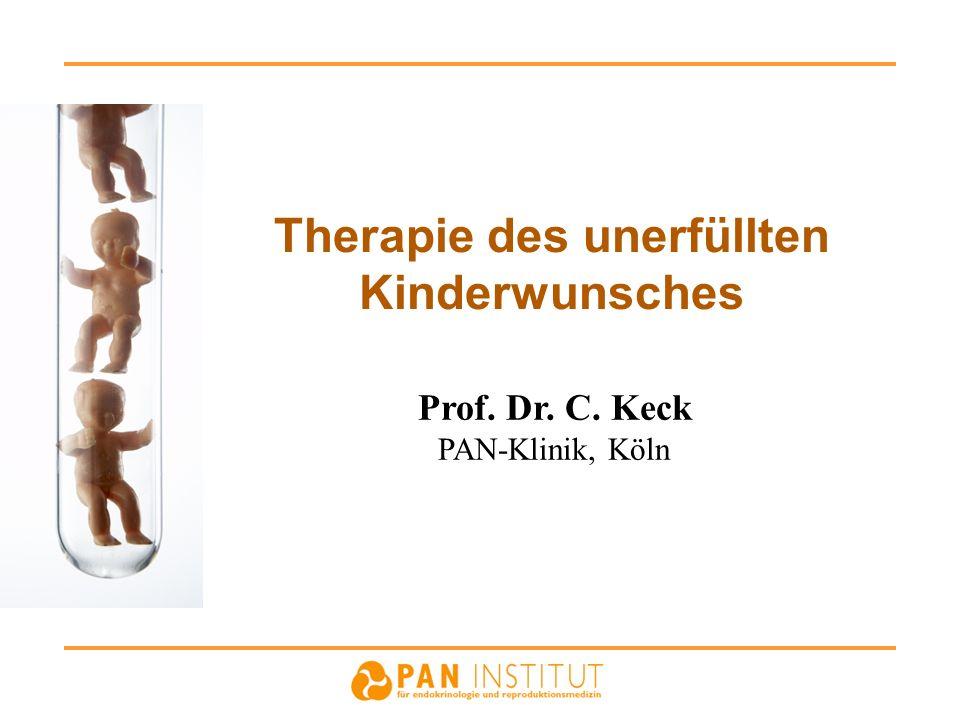 Therapie des unerfüllten Kinderwunsches Prof. Dr. C. Keck PAN-Klinik, Köln