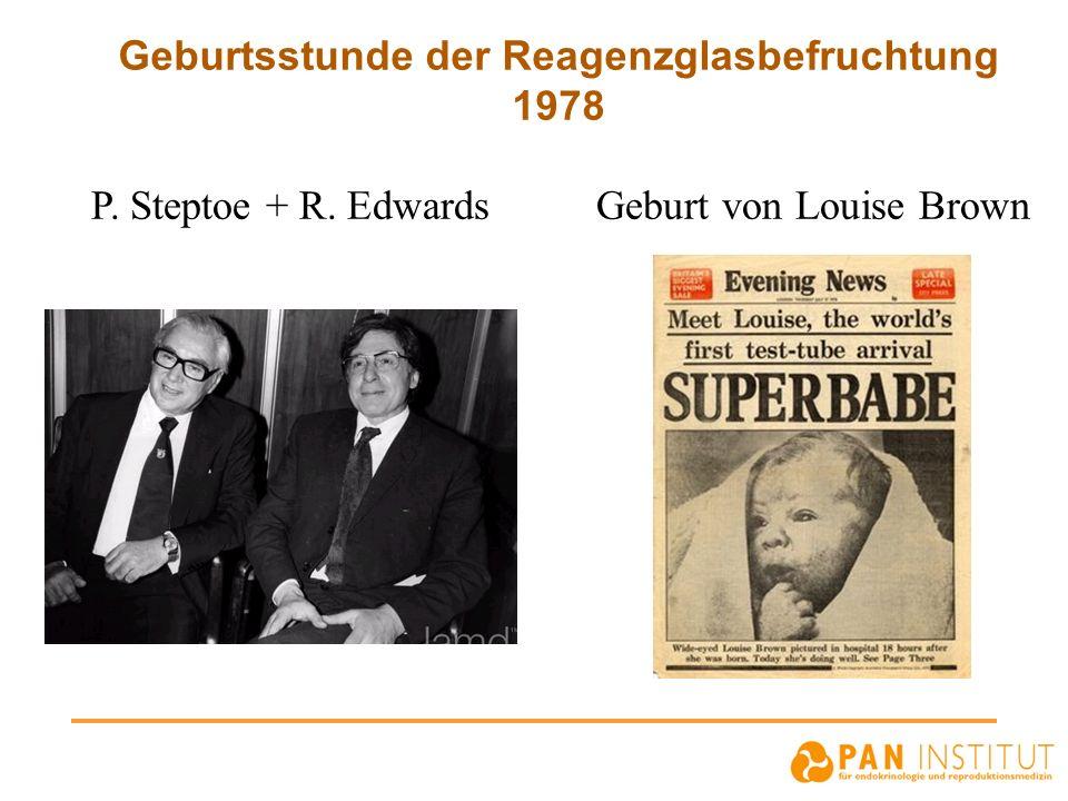 Geburtsstunde der Reagenzglasbefruchtung 1978 P. Steptoe + R. Edwards Geburt von Louise Brown