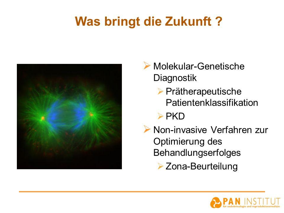 Was bringt die Zukunft ? Molekular-Genetische Diagnostik Prätherapeutische Patientenklassifikation PKD Non-invasive Verfahren zur Optimierung des Beha