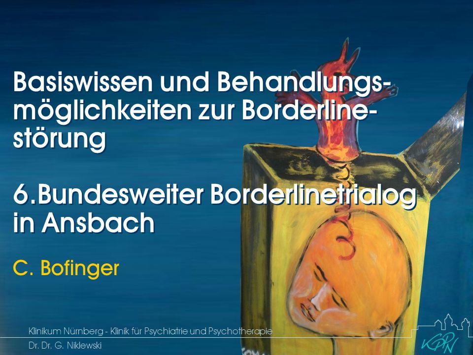Begriff Epidemiologie Ätiologie 2 Störungsbild Borderline Basiswissen und Behandlungsmöglichkeiten Ansbach 04.12.2009 Klinikum Nürnberg - Klinik für Psychiatrie und Psychotherapie OÄ C.