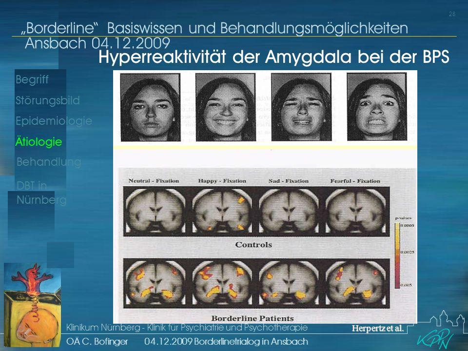 Begriff Epidemiologie Ätiologie 28 Störungsbild Borderline Basiswissen und Behandlungsmöglichkeiten Ansbach 04.12.2009 Klinikum Nürnberg - Klinik für Psychiatrie und Psychotherapie OÄ C.