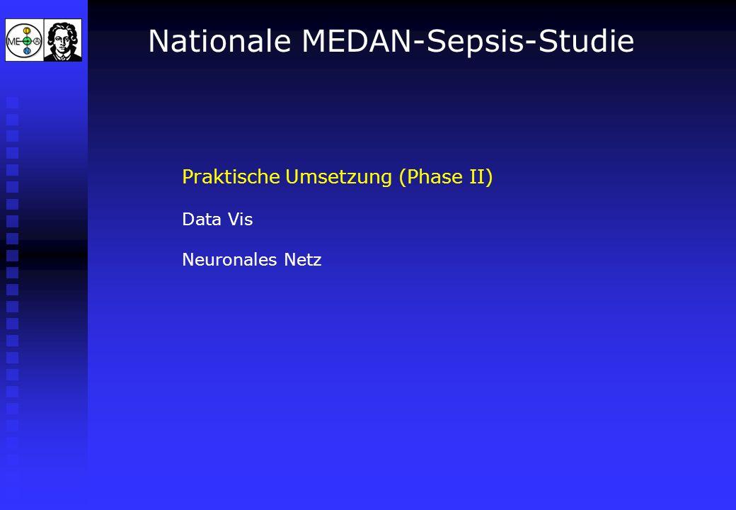 Nationale MEDAN-Sepsis-Studie Praktische Umsetzung (Phase II) Data Vis Neuronales Netz