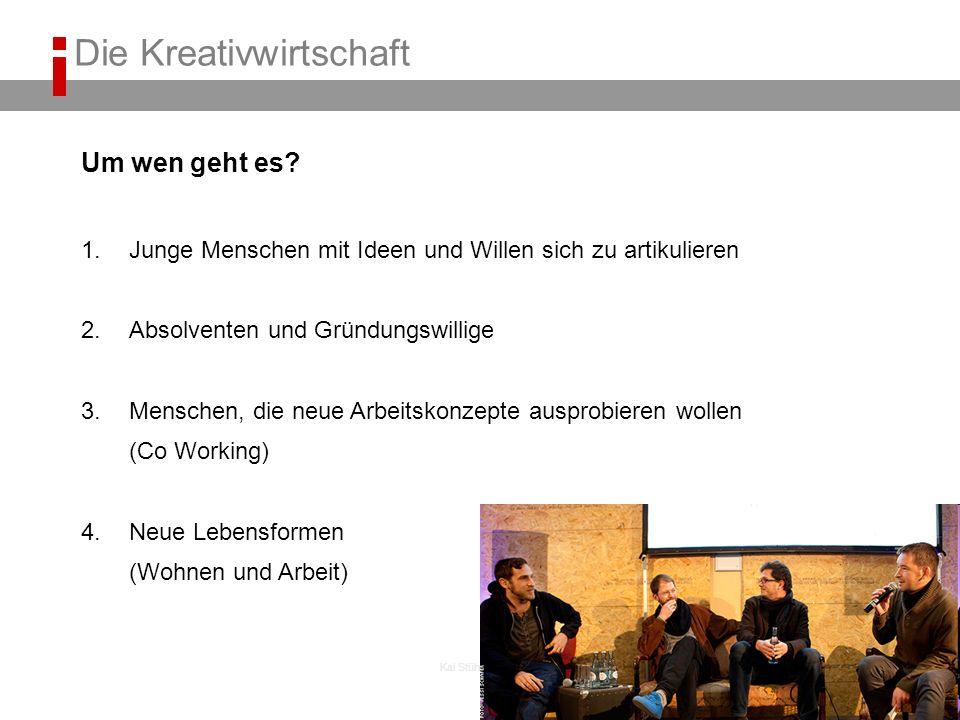 Kai Stührenberg Um wen geht es? 1.Junge Menschen mit Ideen und Willen sich zu artikulieren 2.Absolventen und Gründungswillige 3.Menschen, die neue Arb