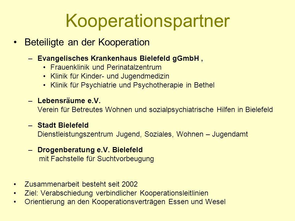 Kooperationspartner Beteiligte an der Kooperation –Evangelisches Krankenhaus Bielefeld gGmbH, Frauenklinik und Perinatalzentrum Klinik für Kinder- und