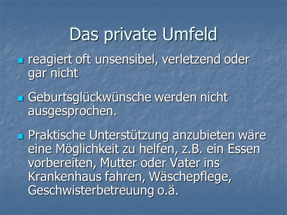 Hilfreiche Adressen (1) Elterngruppe vor Ort im Westerwald: Elterngruppe vor Ort im Westerwald: Kleiner Fels info@kleinerfels.de Selbsthilfegruppe im Internet: Selbsthilfegruppe im Internet: www.fruehchen-netz.de Mailingliste des Frühchen-Netzes in yahoo groups (http://de.groups.yahoo.com/group/fruehchen- netz/)