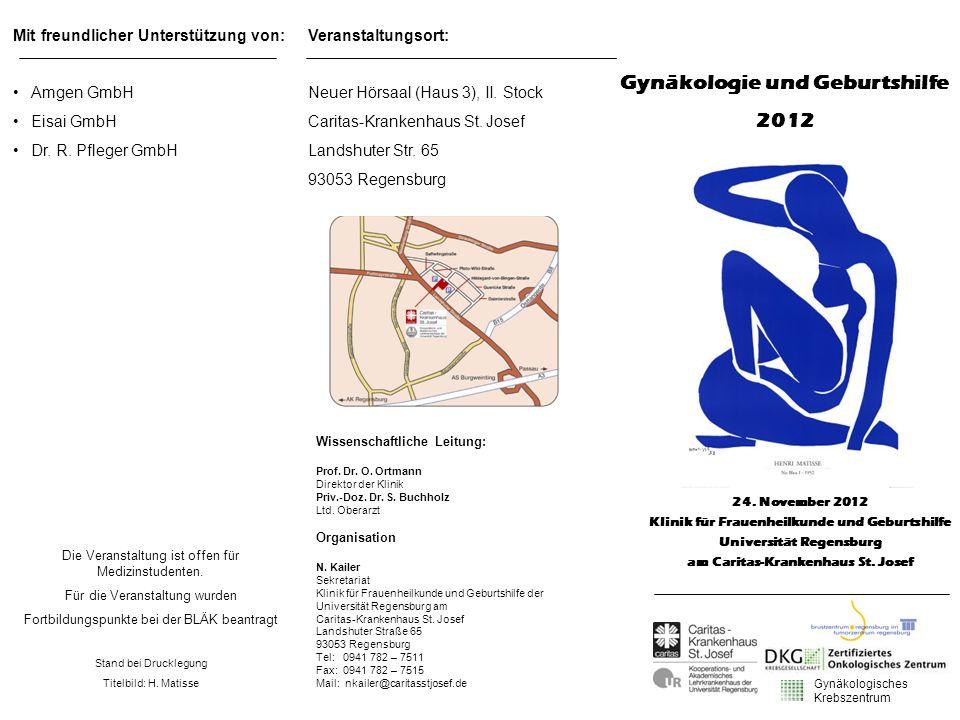 Mit freundlicher Unterstützung von: Amgen GmbH Eisai GmbH Dr. R. Pfleger GmbH Die Veranstaltung ist offen für Medizinstudenten. Für die Veranstaltung