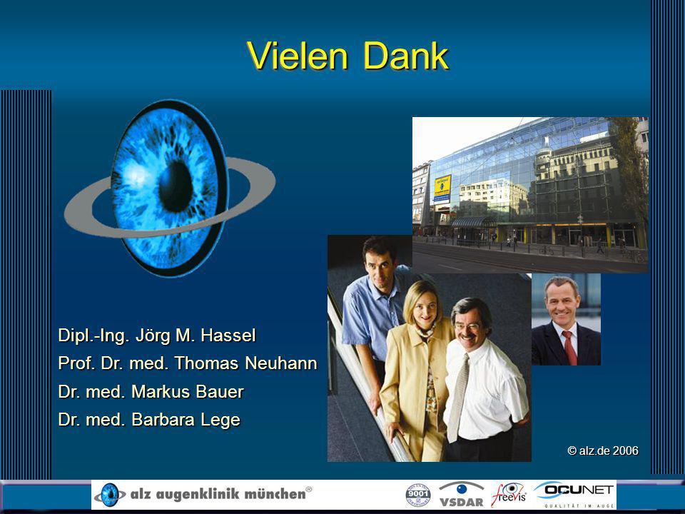 Dipl.-Ing. Jörg M. Hassel Prof. Dr. med. Thomas Neuhann Dr. med. Markus Bauer Dr. med. Barbara Lege Vielen Dank © alz.de 2006